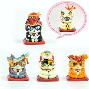 original capsule toys anime cartoon cute kawaii mascot fortune Lucky Cat Maneki Neko blind box gashapon figures desktop Toy 201016