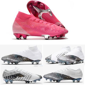 2020 Chuteiras 머큐리얼 슈퍼 플라이 360 개 VII (7 개) 엘리트 FG 축구 신발 CR7 SE 네이 마르 남성 여성 아동 Outdor 축구 부츠 클리트 US3-11
