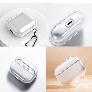 Caja protectora para el caso de Apple Airpods caso auricular inalámbrico Pro a prueba de golpes transparente TPU Soft Shell para el AirPod 1 2 3 protector de auriculares