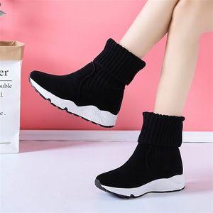 Hot Sale-Fujin Platform Fur Flock Suede Warm Shoes Women 2020 Winter Boots Fashion Breathable Plush Snow Sneakers 200916