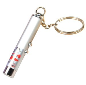 2020 New 2 in 1 White LED Light and Red Laser Pointer Pen Keychain Flashlight Light Key chain