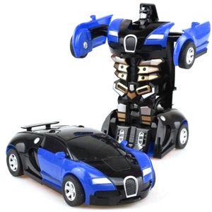 Один ключ Деформация автомобилей Игрушки Автоматическая Transform Робот Пластиковые модели автомобиля Смешные Diecasts игрушки мальчиков Удивительные подарки Kid Игрушка