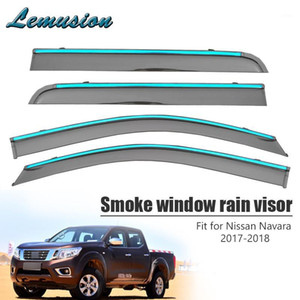 Высокое качество 4 шт. Дымовое окно Визуализация дождя для Nissan Navara 2017 2018 Car-Styling ABS Vent Sun Deflectors Guard Accessories1
