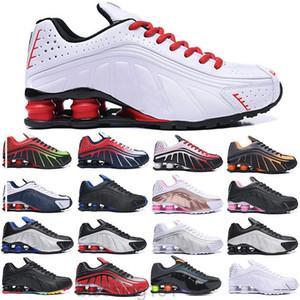 Mens Air Sapatos Casuais Shox TL OG R4 Sports Womens Sneakers 301 Preto Metálico Tons vibrantes Orangr Silver Shox Shoes Treinadores Btrr