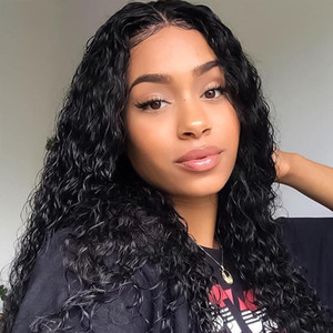 water wave wig curly lace front human hair wigs for black women bob Long deep frontal brazilian wig wet and wavy hd fulluuft