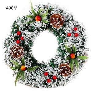 1 Pcs 20 30 40cm Wall Hanging Christmas Wreath Decoration Xmas Party Door Garland Ornament Pendants Home Decor Accessories