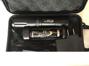 Ekaiou K20 XML T6 3800lm ha condotto la luce della torcia Torce Torce Zoomable Tactical Flashlight con batterie 18650 contenitori di regalo Caricatore SET