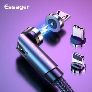 Поворот Магнитный кабель 360 градусов USB Type C зарядный кабель быстрой зарядки магнит зарядное устройство 540 Rotate Micro Magnetic кабель