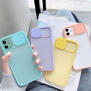 Fotocamera Protezione Lens cassa del telefono coque iphone 12 casi pro telefono MAX copertura di iPhone 11 caso pro max colori caramelle morbide Indietro regalo