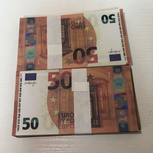 Euro Shooting LE50-21 MV Prop 50 Stage Bar Party Toy Counterfeit Hot Atmosphere Banknote Copy Apdho Notkr