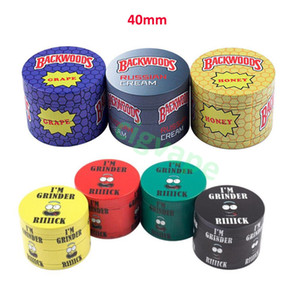 Best Tobacco Grinder Backwoods Grinder 40mm Cookies Shredder 4 Pieces Layers Dry Herb Grinders Crusher Colorful Smasher Smoking Accessories