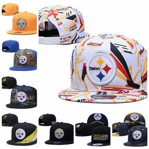 PittsburghSteelersHombres Sport Caps Hombres Mujeres Jóvenes 2020 Tip-Off de la serie 59FIFTY ajustable del Snapback de fútbol sombrero gris