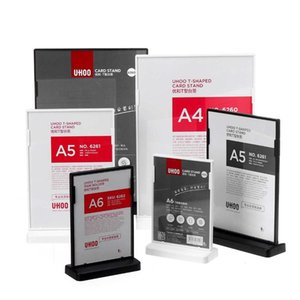 A4 A5 A6 Countertop Table Desk Menu Price Tag Sign Holder Brochure Paper Poster Photo Display Frame Stand Acrylic