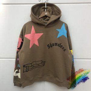Foam Printing Hoodie Best Quality Pullover Brown Black dongguan_ss