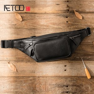 HBP AETOO Leather men's chest bag, casual multi-functional slant bag, head leather bag, trend simple one-shoulder bag