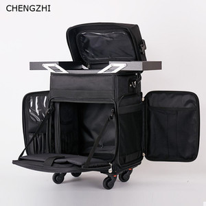 Chengzhi Multifunktions-Tattoo-kosmetischer Fall Rolling Luggage Spinner Frauen professionellen Nail Makeup Trolley-Koffer Räder LJ200928