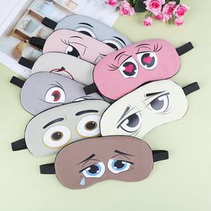 1PC Eye Design Sleep Mask Travel Shade Cover Blindfold Fashion Cute Cartoon Natural Relax Sleeping Eye Mask Soft Padded Sleep