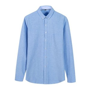 Mens Shirts Top high quality blouse Shirts Long Sleeve Solid Color Slim Fit Casual Business clothing Long-sleeved shirt Men's Casual Shirts