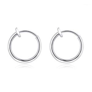 1 Pair No Piercing Acciaio inossidabile cerchio orecchino a cerchio orecchino europeo piccoli orecchini infiniti handmade per le donne uomini bambini gioielli per neonati11
