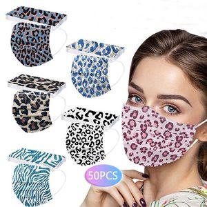 In magazzino Designer monouso leopardo maschere viso lady regalo stampa adulto protezione a 3 strati protezione salute maschera viso maschere sanitarie cocktail bar salone