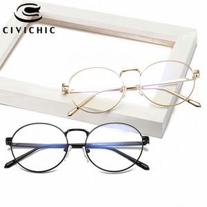 CIVICHIC Corea del estilo retro unisex vidrios llanos del capítulo óptico lente clara Eyewear del diseño de marca de la vendimia Oculos único Especificaciones E290 jPJq #