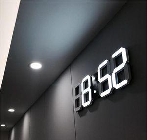 Modern Design 3d Led Wall Clock Modern Digital Alarm Clocks Display Home Living Room Office Table Desk Night W jllYgI dhsybaby
