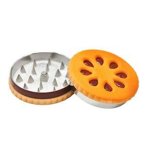 56mm 3 부 햄버거 금속 아연 합금 재질 분쇄기 분쇄기 담배 연기 담배 드라이 허브 그라인더 연기
