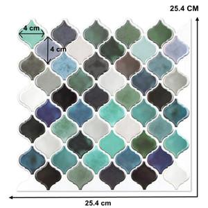 Blue Baffle 3D Mosaic Wallpaper Ethylene Bathroom DIY Decoration