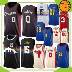 Damian 0 Lillard 15 Jokic NCAA Carmelo 00 Anthony Men College Basketball Jerseys C.J. 3 McCollum 2021 Jamal 27 Murray 2021 Nouveau