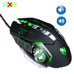 HXB Gaming Mouse Gamer PC Mouse Magic 6 Buttons 3200dpi Adjustable Optical Led Sound Silent For PC Computer Laptop Desktop1