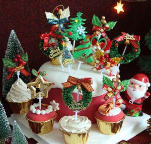 Christmas baking cake decoration cake plug-in flag card Christmas cake decoration to enhance the atmosphere gift
