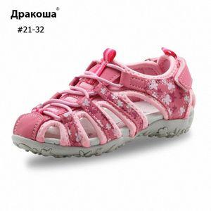 Apakowa 소녀 샌들 만화 스타일 나비 여름 샌들 HookLoop 유아 아치 지원을 위해 어린이 신발 신발 ZiOo # 인쇄하기