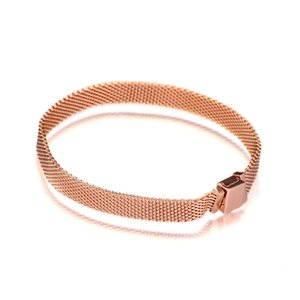 Rose Golden Reflexion Bracelet Snake Chain Sterling Silver Jewelry Bracelets For Reflexion clip Beads & Charms Fashion Woman Jewelry Making