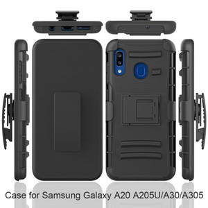 Heavy Druth Duty Armour Defender Coffret de courroie pour Samsung Galaxy J2 Core A10E / A20F A20 A30 A50 Couvercle antichoc w / Kickstand