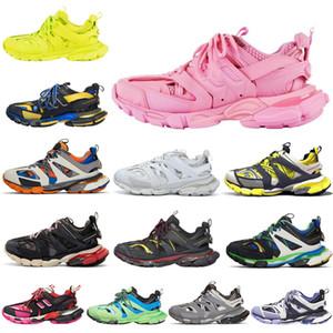 Parça 2 Koşucular Ayakkabı Erkek Bayan Track2 3.0 Sarı Pembe Siyah Spor Rahat Ayakkabılar Eğitmenler SneakersBalanciaga 02 07QS # 17