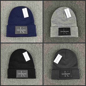 Mode Strickmütze Herbst-Winter-Männer Baumwolle warme Hut S Skullies Marke Beanies Frauen Solid Color Hip-Hop Wollmützen