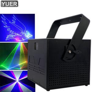 Пульт дистанционного управления 4W RGB 3in1 анимационный лазерный проектор Профессиональный этап DJ Освещение эффекта DMX сканер DJ Disco Party Show Light