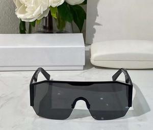 Мужчины Защитные очки 2220 черный серый объектив Rimless Солнцезащитные очки Gafas де золь Мужские солнцезащитные очки Vintage Shades Новые с коробкой