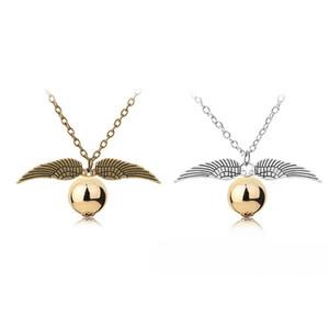 فضة الأزياء والمجوهرات قلادات هاري P قلادة الرجال النساء خمر نمط الجناح انخيل سحر الذهبي أخبر عنه قلادة قلادة للعشاق بوتر