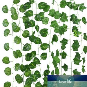 230cm 36 leaves Artificial Hanging Ivy Leaf Vine Garland Green Leaves Creeper Plants DIY Home Garden Summer Wedding Decoration