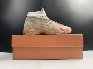 مع صندوق 2021 أحذية رجالي كرة السلة أحذية رياضية 14 ثانية الجلطة منخفضة للرجال أحذية رياضية مقاس برتقالي US7-13