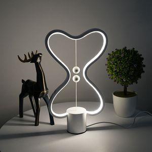 7 colori Heng bilanciamento della lampada della luce di notte LED USB alimentato Home Decor Camera Table Office notte della luce C0930