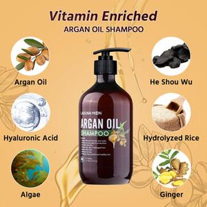 Lagunamoon 500ml Argan Oil ShampoOS para o Shampoo do Crescimento do Cabelo Reduzir a perda de cabelo Nutrish hidratar o reparo do cuidado do cabelo danificado