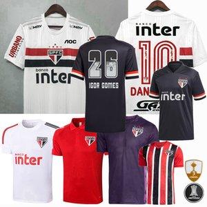 2020 2021 Sao Paulo Fußball-Trikots Sao Paulo PATO PABLO Dani Alves 20 21 Trainings Fußball Männer, Frauen und Kinder T-Shirt 3XL