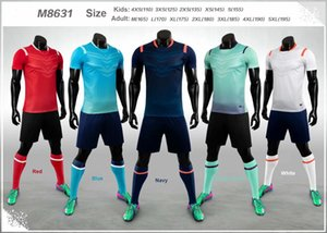 Adult Kids Blank Customize Team Set 2020-2021 Soccer Jersey Set Football Kit Men Children 4XS-5XL Training Uniforms M8631