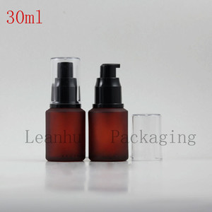 30ML Red Glass Spray Pump   Lotion , 30CC Toner Essence Packaging Bottle Empty Cosmetic Container
