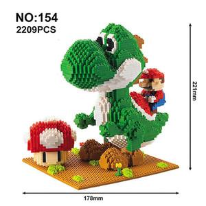 Modelo Building Blocks Mario Bros de la serie de dibujos animados Juguetes Yoshi Anime Figuras ensambladas Mini ladrillo juguetes educativos para los niños bbyJbq