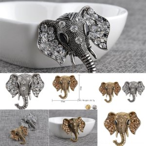 8iQQZ Classic Diamond creativity elephant Elephant Vintage Diamond Elephant Sale diamond brooch Letter Hot Brooch Metal