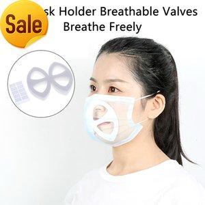 입 8pc / 세트 3D 지원 호흡 돕기 내부 쿠션 브래킷 식품 학년 실리콘 마스크 홀더 통기성 밸브 LA90