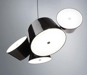 Modern Metal Glass Drum Pendant Lamp Shade Color Can Freely Combined Home Living Room Decor